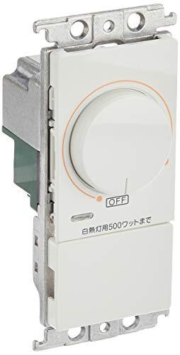 パナソニック(Panasonic) コスモシリーズワイド21 埋込調光スイッチB 片切 500W ホワイト WT57515WK
