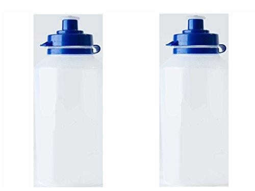 6 x Clear School Water Bottles Sports/Water Bottles - Kids Drink Water Bottles - Choose Between School or Plain Bottle (Clear, 500ml)