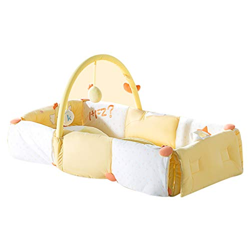 Kinderbetten Krippenbett Multifunktionsreisebett neonatales Anti-Druckbett tragbares Spielbett faltbares Rucksackbett Baby- & Kindermöbel (Color : Yellow, Size : 88 * 40 * 20cm)