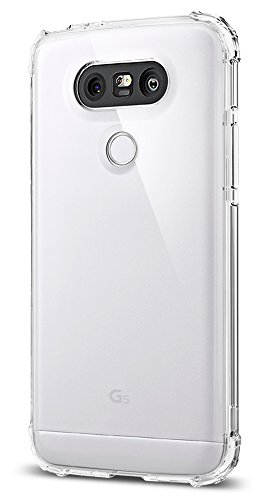 Spigen Schutzhülle für LG G5 [Crystal Shell] einteiliges stoß-absorbierendes Case, durchsichtige Rückseite und hochwertiger TPU-Bumper für LG G5 in Crystal Clear [Clear Crystal - A18CS20133]