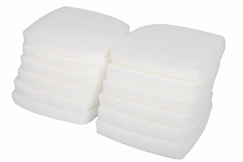 LTWHOME Weißer Feiner Filterschwamm Passend für Eheim Professional 3e 2076/2078/450/700/600T(12 Stück)