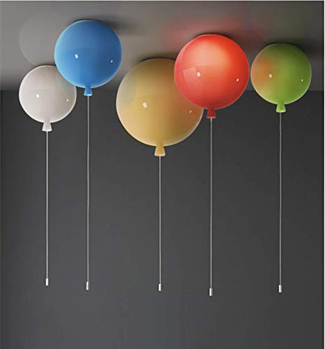 LIUNIAN Bunte Ballon-Deckenleuchte Einfache moderne Deckenleuchte, Kinderzimmer-Deko-Kronleuchter für Jungen, 25cm Durchmesser, mit 5W-Glühlampe