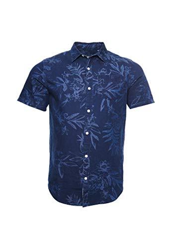 Superdry Miami Loom Camisa Hombre Miami Tropical Indigo
