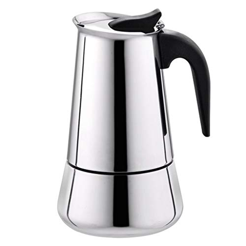 Amazing Deal Stainless Steel Wide Bottom Home Coffee Pot Moka Espresso Maker Percolator Stove barist...