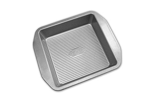USA Pan American Bakeware Classics 8-Inch Square Cake and Brownie Pan, Aluminized Steel