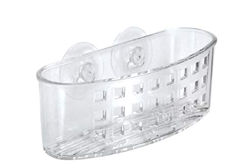 iDesign Kitchen Sink Suction Holder for Silverware, Flatware, Cutlery - Clear