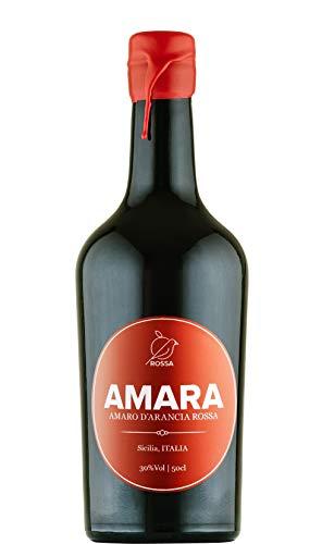 Sicilia Bedda - Amara Amaro di Arancia Rossa - 50 cl - IDEA REGALO - Box 3 Bottiglie