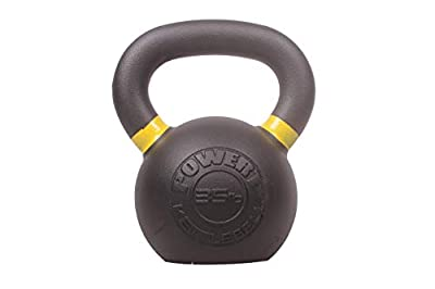 POWERT Cast Iron Kettlebell| Premium Quality Powder Coated with Color Coded Ring 5/10/15/20/25/30/35/40/45/50 lbs-Single (G-35 lbs) from DDG FITNESS & SPORT