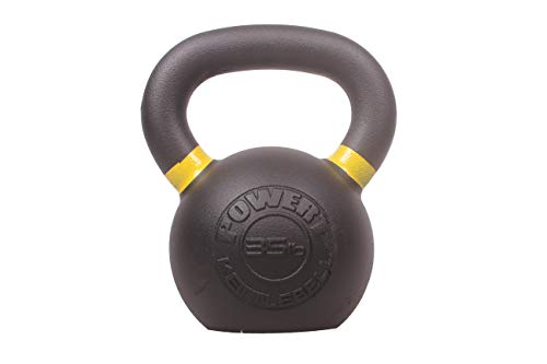 POWERT Cast Iron Kettlebell| Premium Quality Powder Coated with Color Coded Ring 5/10/15/20/25/30/35/40/45/50 lbs-Single (G-35 lbs)