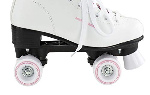 Rollschuhe für Kinder Skates Rollerskates Inliner Disco Skates Sport NQ8400S (Weiß, 38)