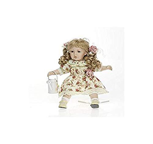 Faelens Porzellan-Puppe, Gießkanne, 36 cm, Sitzpuppe