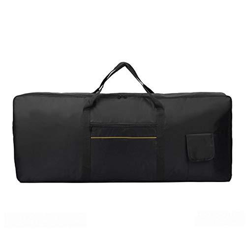 Housse pour clavier électronique portable 61 touches - Housse rembourrée pour clavier électronique - Étanche - 98 x 41 x 13 cm - Noir