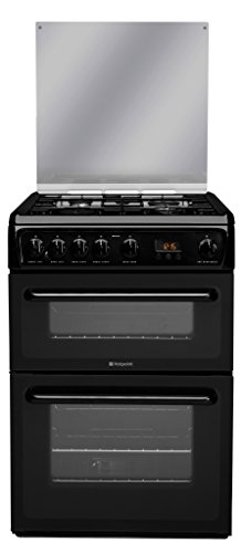 Hotpoint HAGL60K Freestanding Gas  Rated Cooker -Black