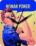 Orologio da parete 20x 25cm Woman Power We can do it signora Power Targa in orologio Clock
