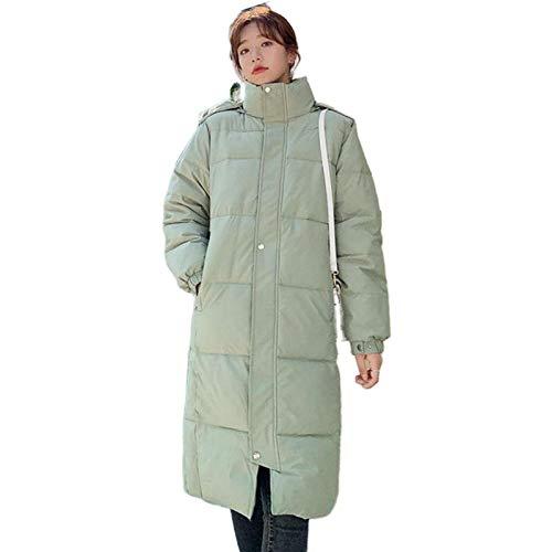 abrigos Largo Negro Abajo de Algodón Femenino Acolchado Suelto Manga Larga Chaqueta de Invierno Mujeres Con Capucha Caliente Grueso Nuevo Parkas Q3208