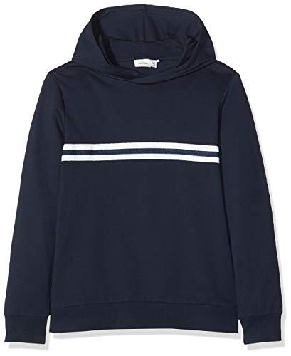 NAME IT Jungen NKMTHUNDER LS Sweat W Hood UNB NOOS Sweatshirt, Blau (Dark Sapphire Dark Sapphire), 146 (Herstellergröße:146-152)