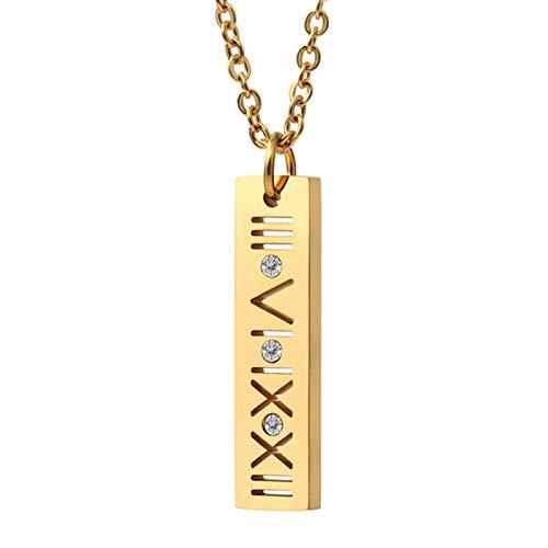 Collar de Mujer de Moda, Collares de Concha Blanca y Negra de Acero Inoxidable con Collares de joyería de Boda Romana de Lujo para Mujer