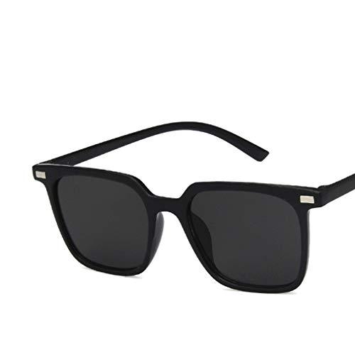 WXZQ Gafas de Sol de Aviador clásicas de Estilo Militar Premium Gafas de Sol polarizadas Gafas de Sol Ligeras para Hombres y Mujeres Negro C1