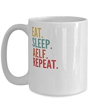 Aelf Crypto Eat Sleep Aelf Repeat Mug 15oz white