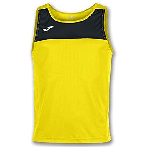 Joma Race Camisetas Caballero, Hombre, Amarillo/Negro, M