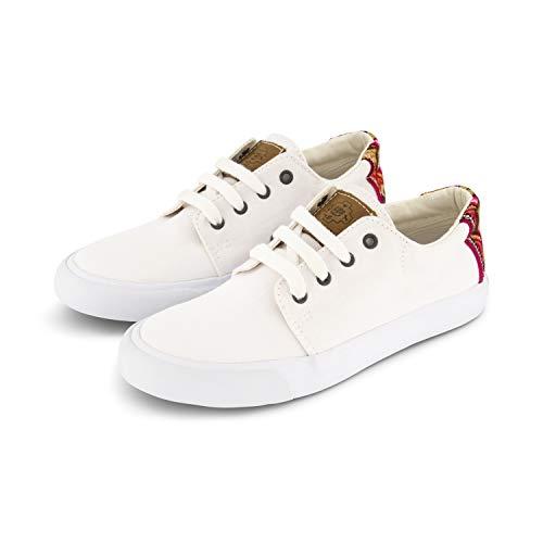 MiPacha - Basico Panti Blanco - Handgefertigte Sommer Canvas Schuhe Aus Leinwald - Weiß Mit Farben, Weiß, 41 EU