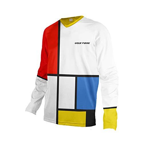 Uglyfrog Ciclismo Jersey, Camiseta de Manga Corta/Manga Larga Bici/Bicicletas para los Hombres BMX - Mountain-Bike - Downhill - Regalos Deporte -Ciclista - Retro - Fixie-Bike Shirt ES19HSJF03