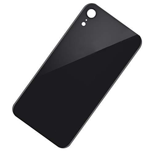 Almencla Replacement Back Glass Cover Back Battery Door,Best Version for Apple iPhone XR Models - Black