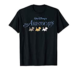 Officially Licensed Disney Aristocats Tee Shirt 19DNAC00004A-001 Lightweight, Classic fit, Double-needle sleeve and bottom hem