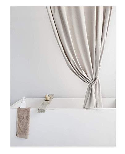 Salon Rideaux de Douche en Lin épaissis Hôtel de Haute qualité Rideau de Salle de Bain étanche pour Hôtel & Home Rideau Décoration,120 * 180
