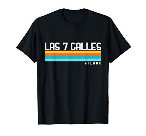 Diseño estilo ochentas Las 7 Calles Bilbao Camiseta