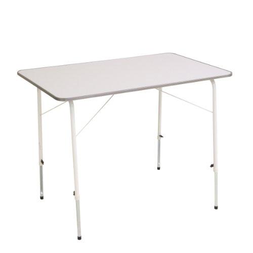greemotion Campingtisch in Weiß, höhenverstellbarer Tisch, ca. 100x56-76x67 cm
