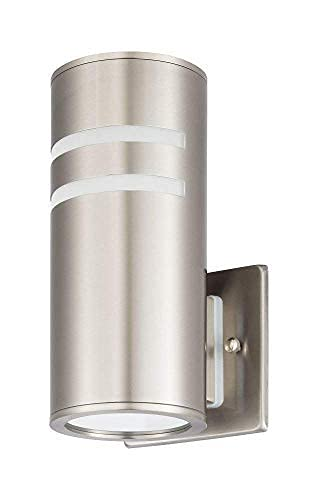 TengXin Outdoor Wall Sconce, Cylinder Wall Light with Stainless Steel 304 and Toughened Glass, Waterproof,E27,8.7