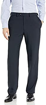 Haggar Men's eCLo Stria Expandable-Waist Pleat-Front Dress Pant