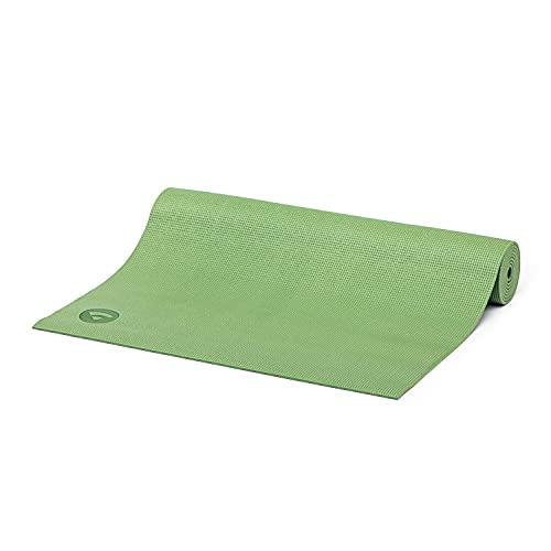 Bodhi Yogamatte ASANA aus PVC   Schadstofffrei   Rutschfest & Waschbar   Perfekt für Einsteiger   Übungsmatte für Fitness, Pilates & Gymnastik   183 x 60 x 4 mm   Olivgrün