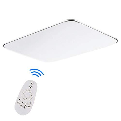 48W Dimmbar LED Deckenleuchte Modern Deckenlampe Ultraslim Dauerbeleuchtung Schlafzimmer Küche Flur Wohnzimmer Lampe Wandleuchte Energie Sparen Licht Silber (48W Silber Dimmbar)