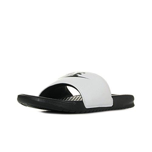 Nike Benassi Jdi - Chanclas para hombre, Pantuflas, color Color blanco y negro., tamaño 44 EU