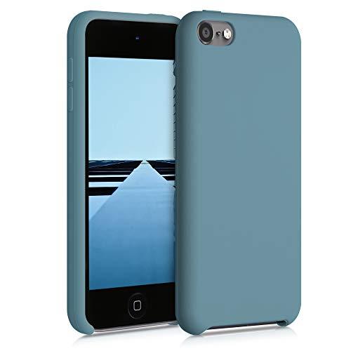 kwmobile Hülle kompatibel mit Apple iPod Touch 6G / 7G (6. und 7.Generation) - Silikon Schutzhülle gummiert - Cover Case in Arctic Blue