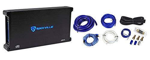 Rockville dB15 6000 Watt/3000w RMS Mono Class D 2Ohm Car Audio Amplifier+Amp Kit