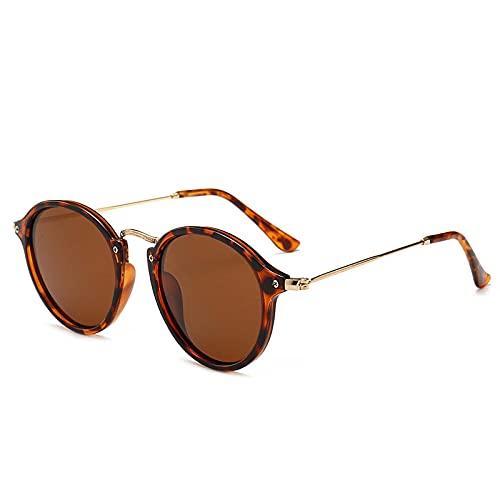 DLSM Vintage Gafas de Sol Mujer/Hombres Clásico Redondo Sun Glass Retro Sunglass UV400 Adecuado para Deportes al Aire Libre y Senderismo-C2