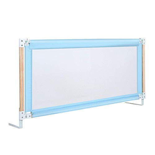Veiligheid Baby Guardrail Bed Rail voor Baby/Verticale Lifting Baby veiligheid nachtkastje voor peuter, stalen buis + hout valbeveiliging Verstelhoogte 76-96cm, 2 kleuren (150/180/200cm)