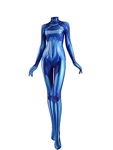 CosplayLife Zero Suit Samus Kostüm |Zero Suit Kostüm XL Blau