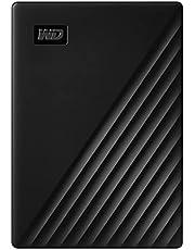 WD WDBPKJ0050BBK-WESN My Passport Bärbar Extern Hårddisk med Lösenord och Automatisk Säkerhetskopiering, 5 TB, Svart