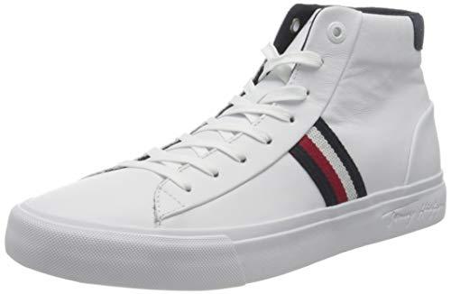 Tommy Hilfiger Corporate Midcut Leather Sneaker, Zapatillas Hombre