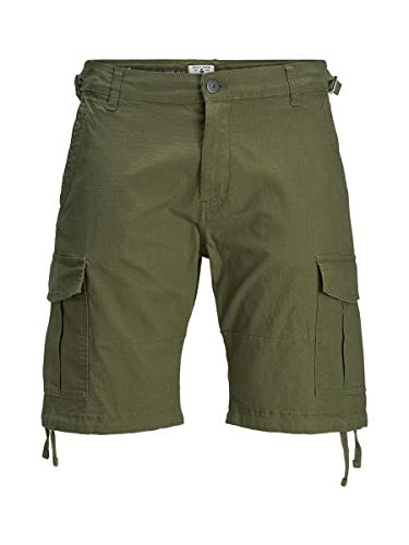 JACK & JONES Male Cargoshorts Alfa AKM 904 MOlive Night