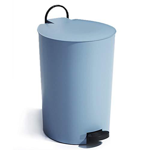 ゴミ箱 ペダル式 ふた付き 10L おしゃれ 丸型 ごみ箱 は無臭で密閉 キッチン、リビングルーム、トイレ、室内、洗面所用(青い)