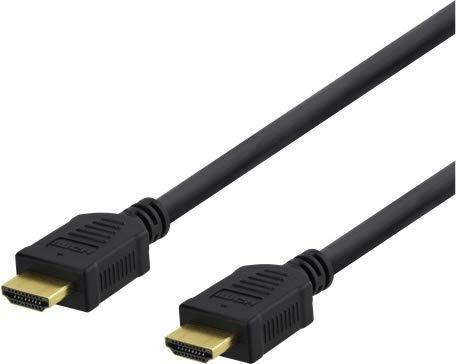 DELTACO Câble Premium HDMI High Speed Certifié - 4K UHD Ultra Haute Definition 3840 x 2160 Pixels à 60 Hz Ethernet - TV, 3D, HDR, Arc, Blu-Ray Player, Consoles PS4 Xbox One - Garantie à Vie - 3m