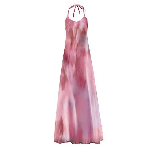 TAMALLU Women Skirts Workout Beautiful Lightweight Sleeveless Vacation Beach Dress(Pink,XL)