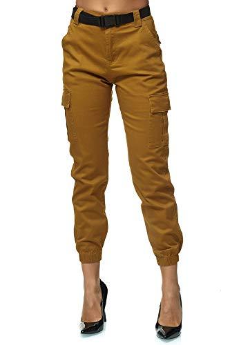 Elara Pantalones Cargo para Mujer Slim Fit Denim Chunkyrayan