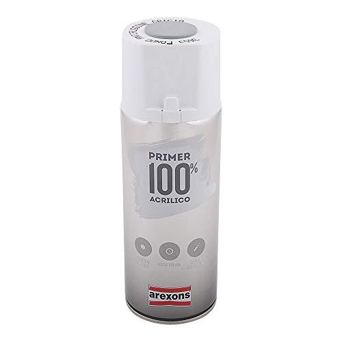 AREXONS PRIMER 100% ACRILICO Fondo Antiruggine Grigio Smalto spray 400 ml vernice spray, protezione ruggine, smalto acrilico, resine di alta qualità, essiccazione rapida, bomboletta spray