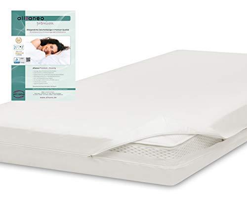 allsaneo Premium Encasing Matratzenbezug 180x200x20 cm, Allergiker Bettwäsche extra weich und leicht, Anti-Milben Zwischenbezug für Matratze